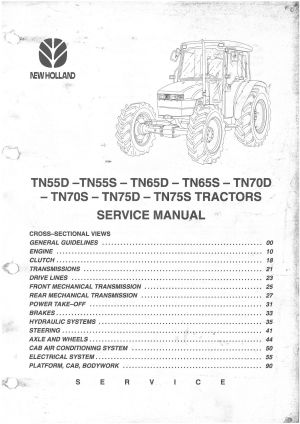 [WRG8579] New Holland Tractor Wiring Diagram